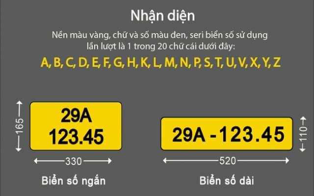 Chi phí khi chuyển sang biển số vàng