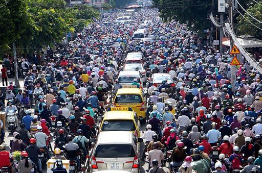 Hiện trạng kẹt xe tại gò vấp, tân bình,... Hồ Chí Minh