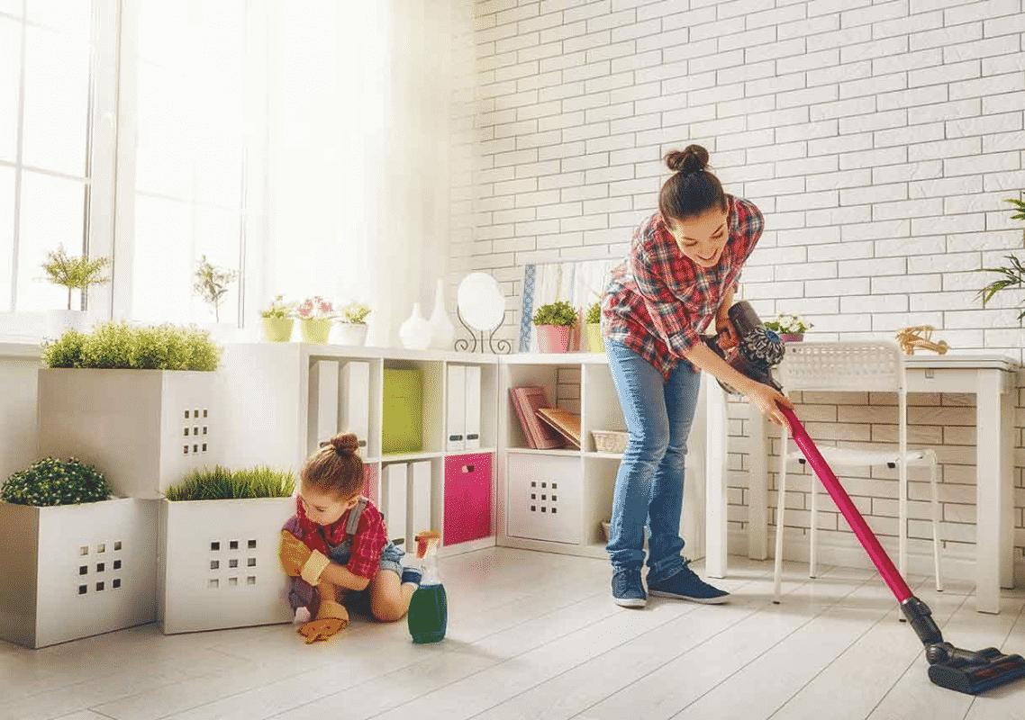 Quét dọn sạch sẽ nhà mới để mọi chuyện được thong hanh