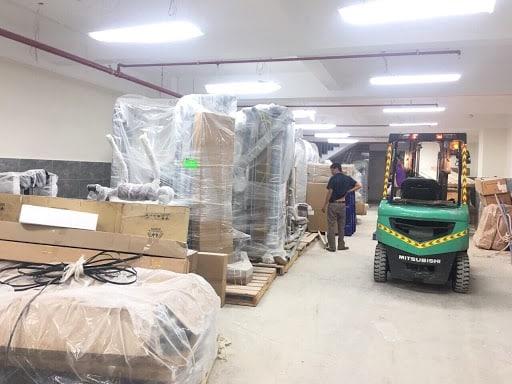 Khảo sát nhà xưởng, khối lượng cần vận chuyển, quãng đường di chuyển