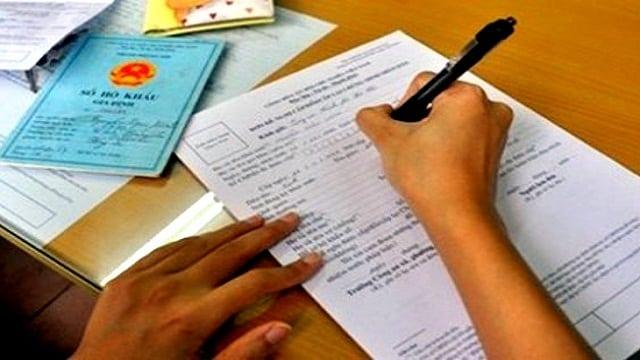 Thủ tục hồ sơ đăng ký sổ hộ khẩu tphcm