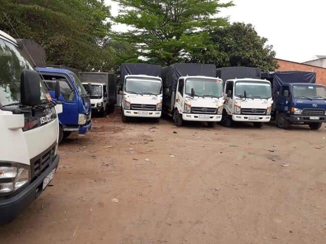 Hệ thống xe tải vận chuyển đồ đạc tại quận 6 - Dịch Vụ Chuyển Nhà Trọn Gói