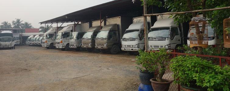 Hệ thống xe tải chất lượng sẵn sàng phục vụ nhu cầu khách hàng