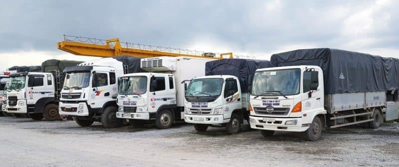 Hệ thống xe tải hổ trợ công việc dọn nhà