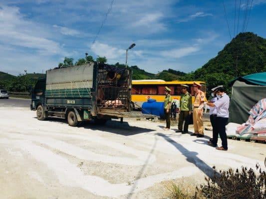 Xe tải vi phạm giao thông