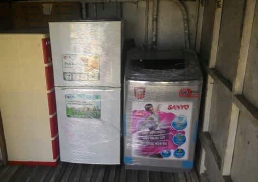 Kích thước tủ lạnh có thể vận chuyển bằng xe máy