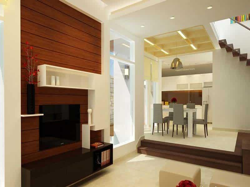 Không nên đặt phòng bếp cao hơn phòng khách