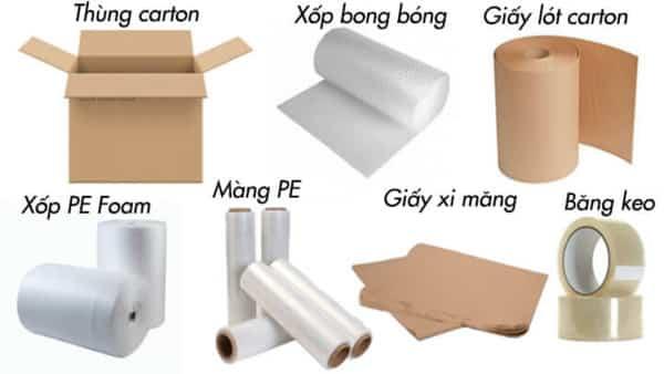 Chuẩn bị vật liệu đóng gói hàng dễ vỡ