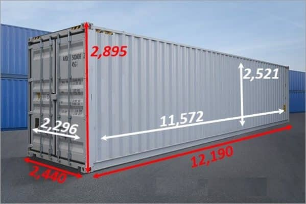 Container 40 feet Cao (HC)