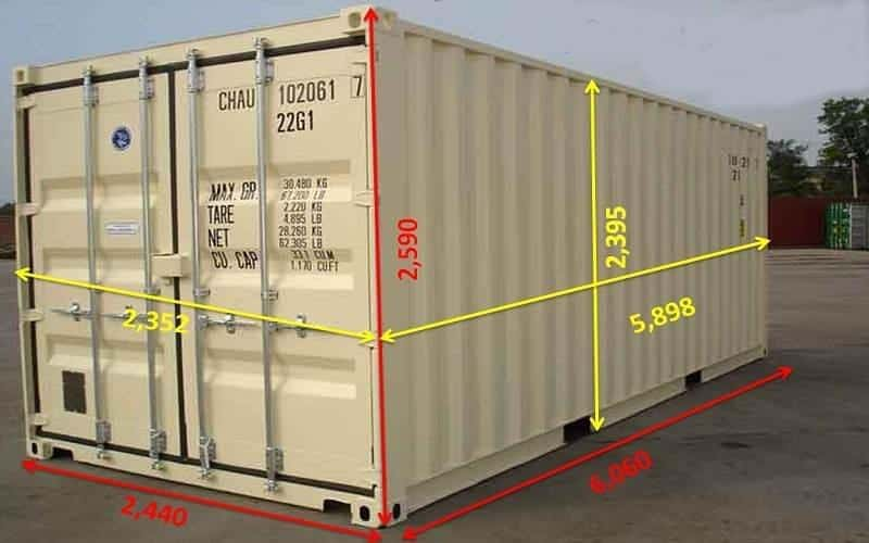 Container 20 feet Cao (HC)