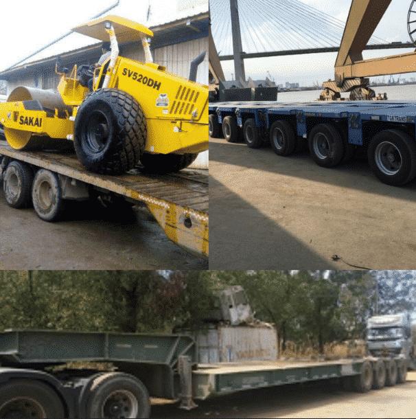 Vận chuyển máy công trình - Vận chuyển hàng quá tải