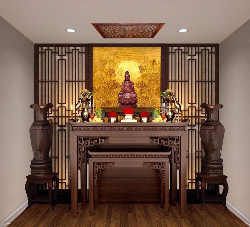 [Chia sẻ] Cách bài trí bàn thờ phật trong nhà như thế nào?