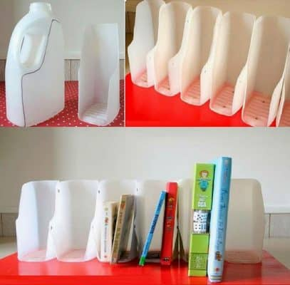 Tái chế chai nhựa để làm giá sách