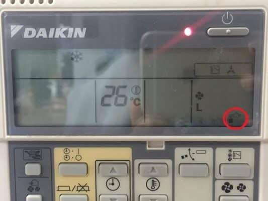 Ký hiệu hình vòi nước trên remote máy lạnh
