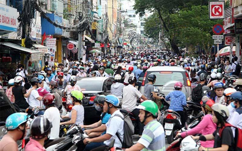 Tình trạng kẹt xe ở Sài Gòn