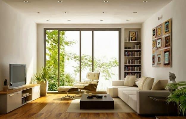 Khu vực trung tâm nhà chung cư thường là phòng khách