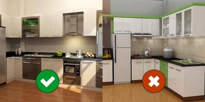 Vị trí bếp nhà chung cư theo chung cư