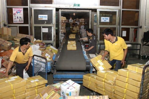 thời gian chuyển phát bưu điện